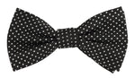 Black/White - Mini Spot Microfiber Bow Tie