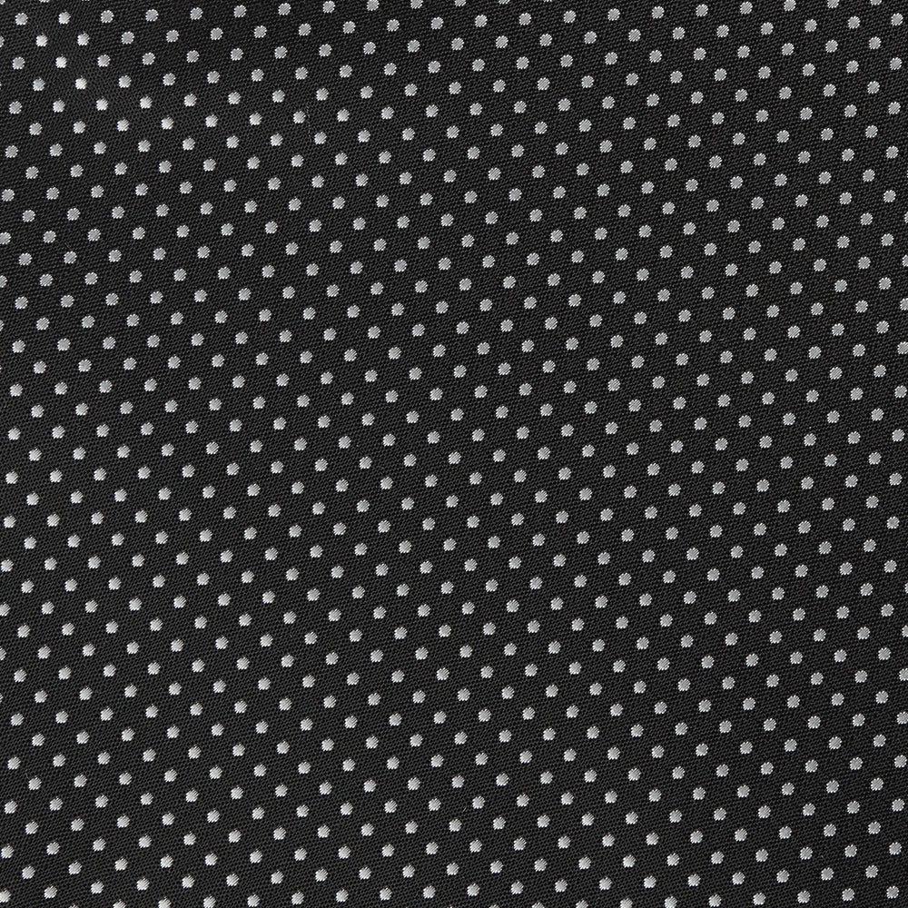 Black/White - Mini Spot Microfiber Pocket Square