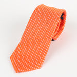 Orange/White - Mini Spot Microfiber Tie