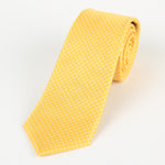 Gold/White - Mini Spot Microfiber Tie