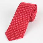 Red/White - Mini Spot Microfiber Tie
