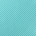 Aqua/White - Diagonal Mini Stripe Microfiber Pocket Square