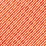 Orange/White - Diagonal Mini Stripe Microfiber Pocket Square