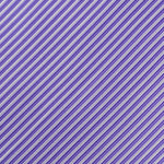 Purple/White - Diagonal Mini Stripe Microfiber Pocket Square