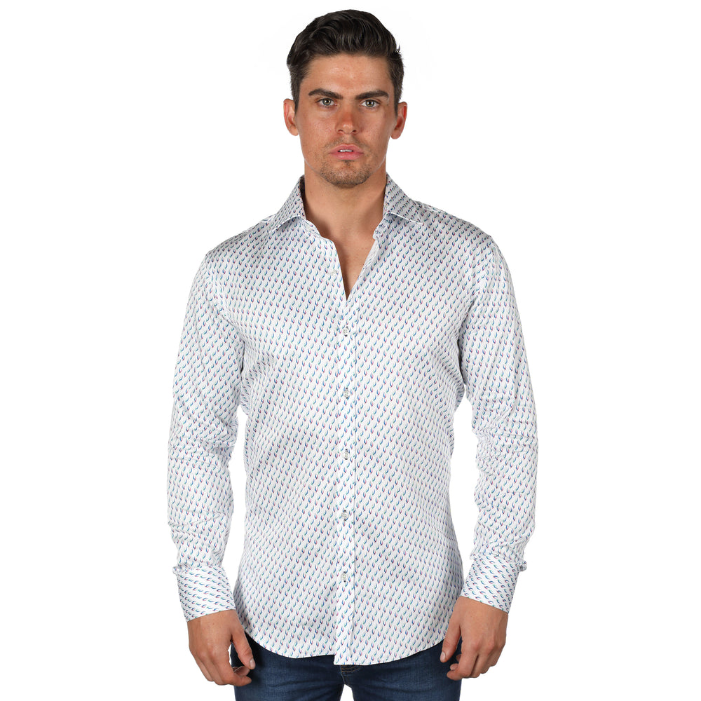 JF100 Patterned Print Shirt
