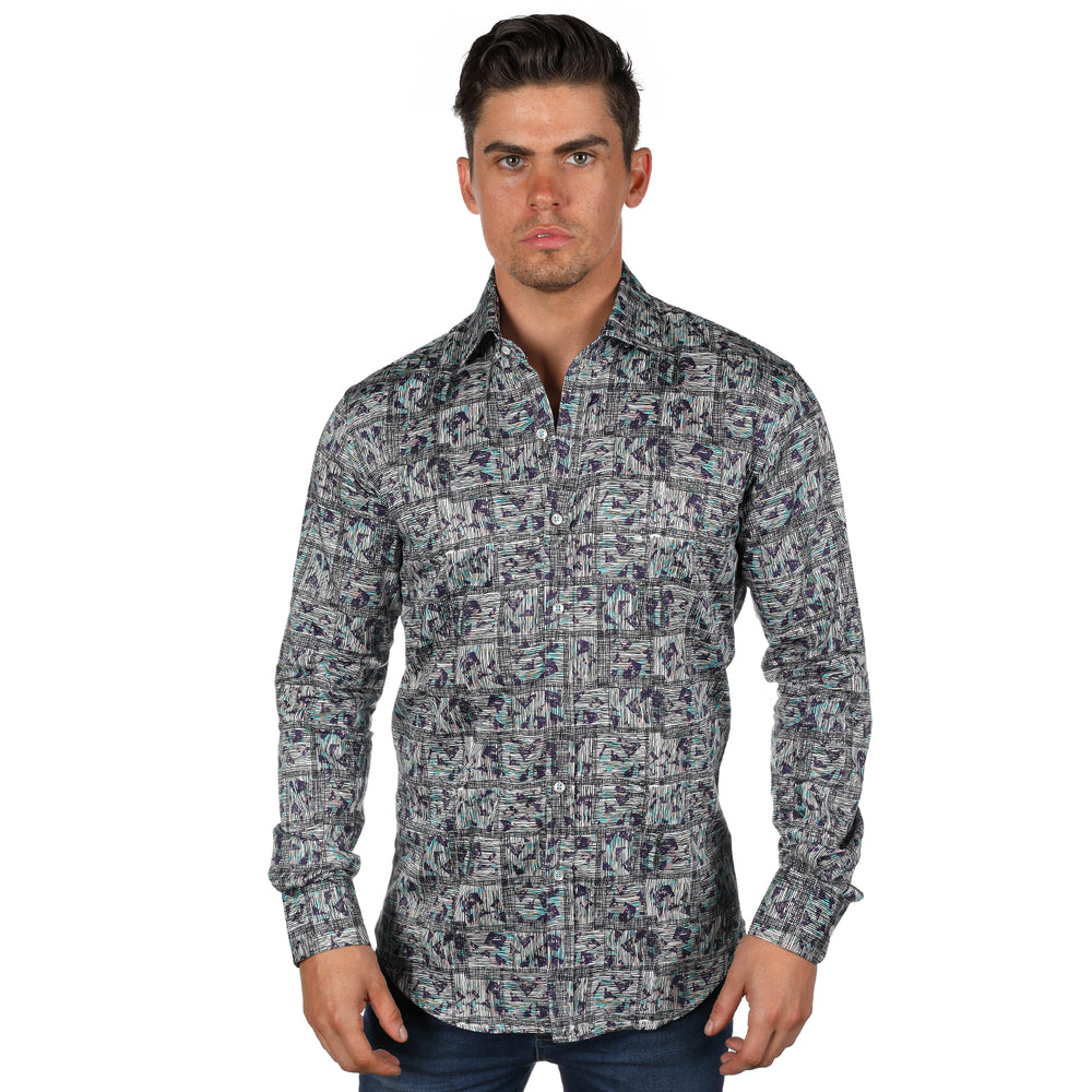 JF110 Patterned Squared Print Shirt