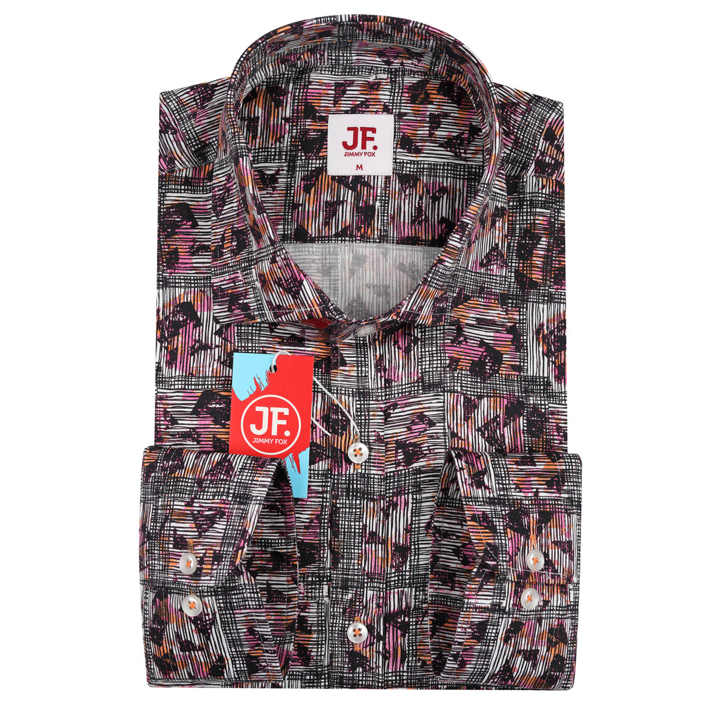 JF120 Patterned Squared Print Shirt