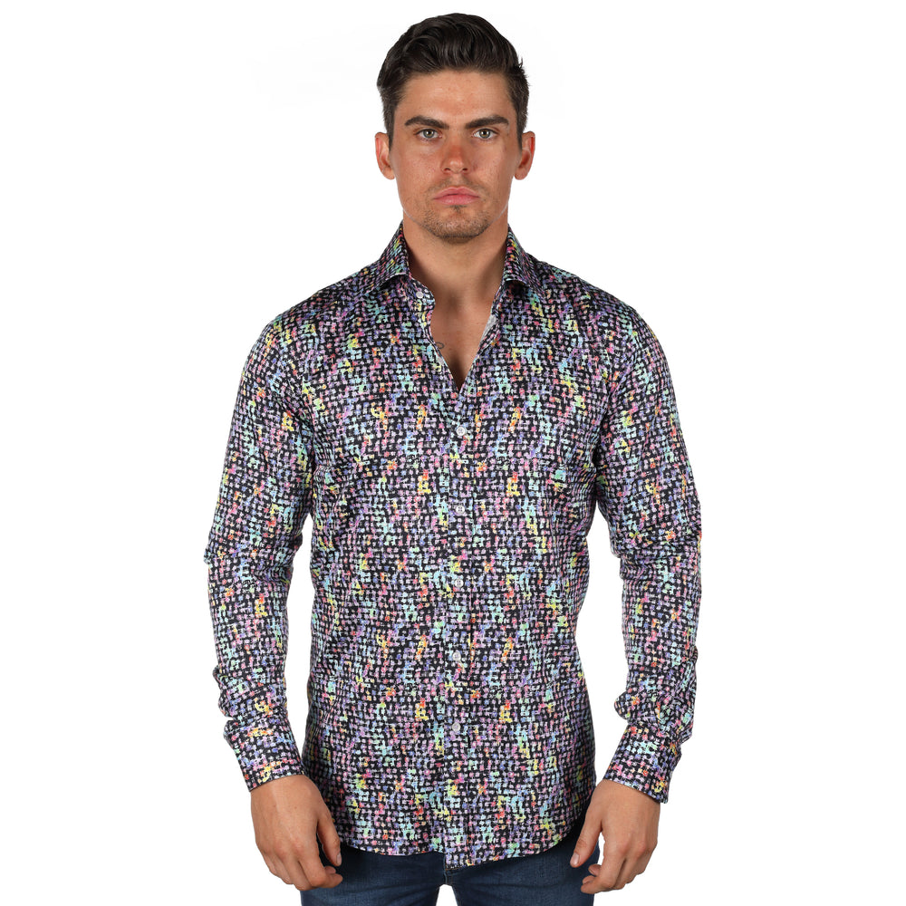 Patterned Print L/S Shirt