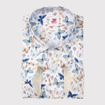 Butterfly Print Slim Fit L/S Shirt