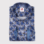 Floral Denim Print S/S Shirt