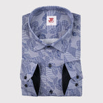 Patchwork Print Slim Fit L/S Shirt