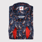 Striking Paisley Print Slim Fit L/S Shirt
