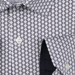 Geometric Star Print Slim Fit L/S Shirt