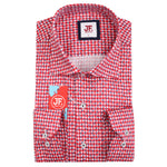 SAMPLE Gingham Paisley Print Slim Fit L/S Shirt