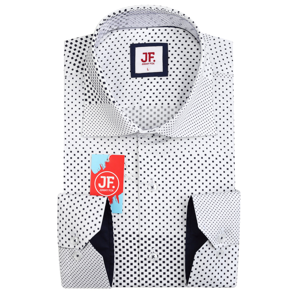SAMPLE Graded Spotted Print Slim Fit L/S Shirt