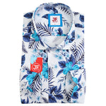 SAMPLE Hawaiian Palm Print Slim Fit L/S Shirt