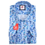 SAMPLE Gingham Check Floral Print Slim Fit L/S Shirt