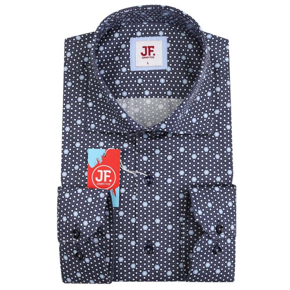 SAMPLE Geometric Print Slim Fit L/S Shirt
