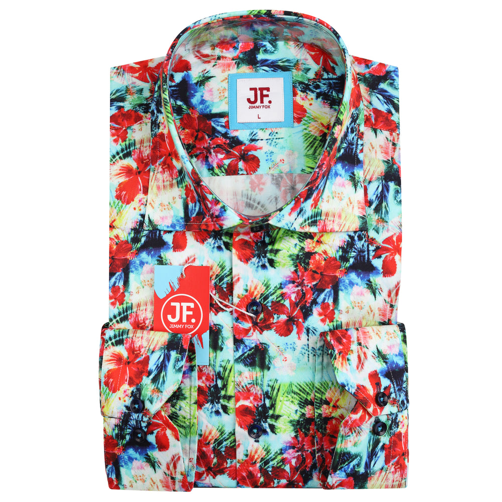 JF860 SHORT SLEEVE Floral Print Shirt
