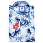 Palm Print Slim Fit S/S Shirt