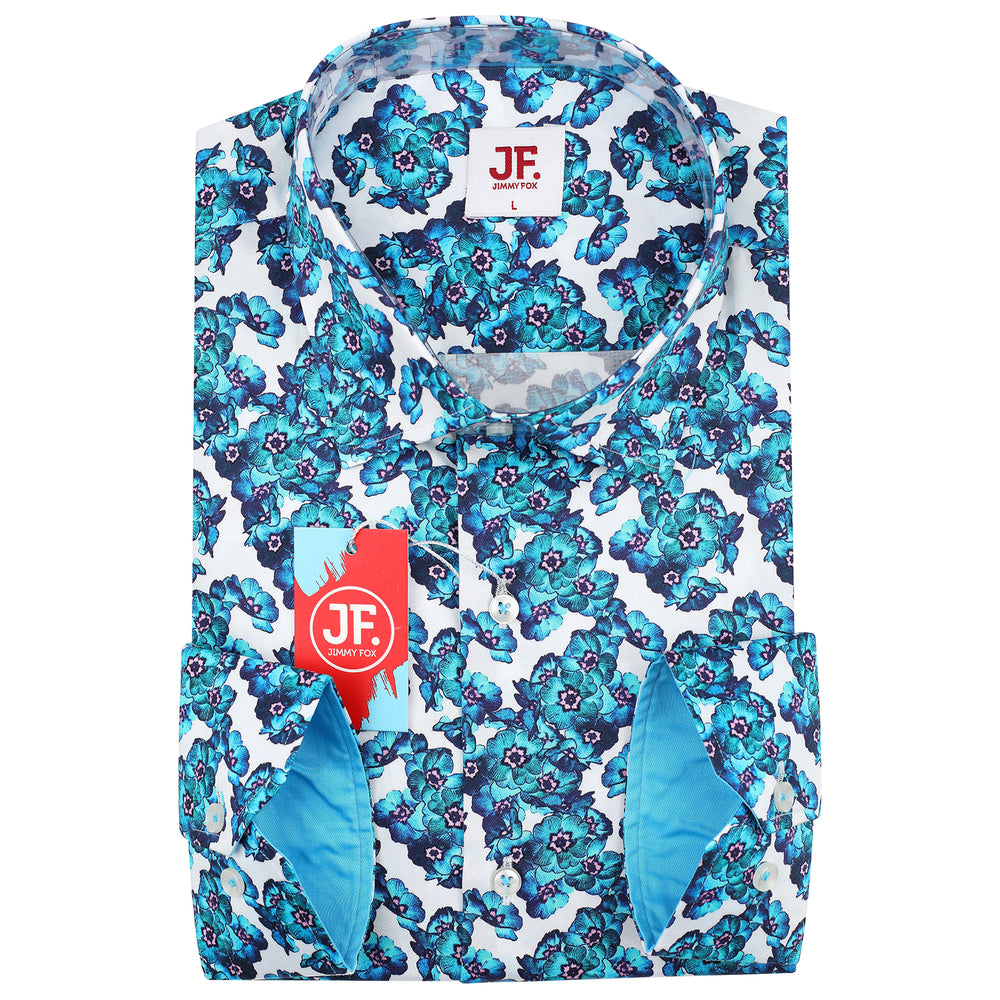 Floral Print Slim Fit L/S Shirt