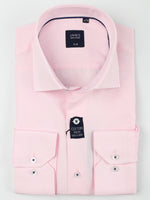 Soft Pink - Textured Weave L/S Business Shirt