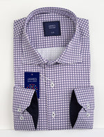 Purple/Navy/White - Cotton Sateen L/S Shirt