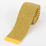 Gold - Geometric Italian Knitted Tie