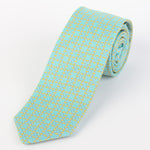 Soft Green - Geometric Italian Silk Tie