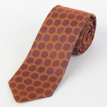 Tan - Spotted Geometric Italian Silk Tie