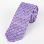 Purple/Blue - Spotted Geometric Italian Silk Tie