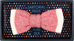 Red - Shaded effect Italian Knitted Bow Tie