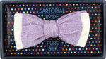 Purple - Shaded effect Italian Knitted Bow Tie