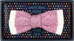 Magenta - Shaded effect Italian Knitted Bow Tie