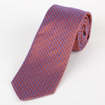 Orange/Lilac - Textured Italian Silk Tie