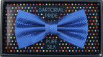 Royal - Square Weave Silk Bow Tie