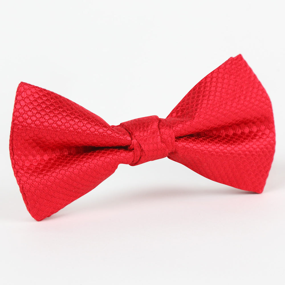 M19547B Luxury Square Weave Pure Silk Bow Tie