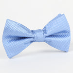 Sky - Square Weave Single Dimple Silk Bow Tie