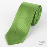 Green - Square Weave Silk Tie