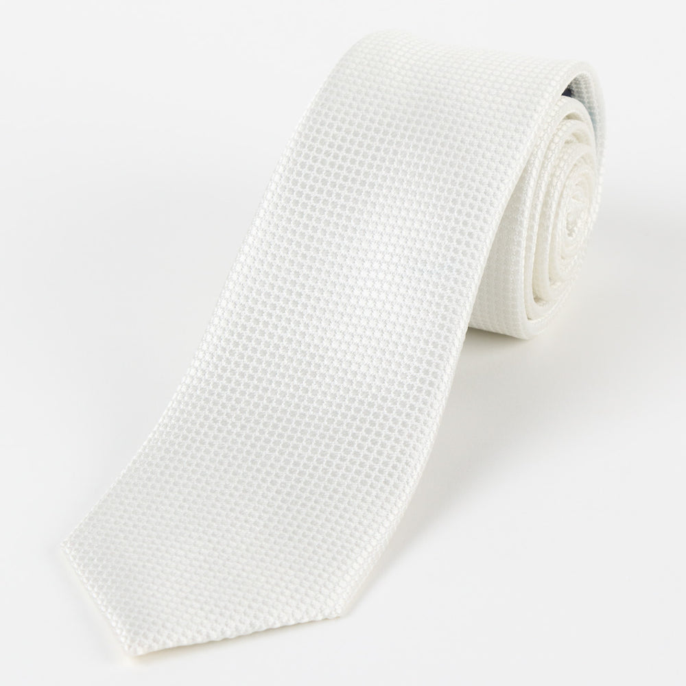 Off White - Square Weave Silk Tie