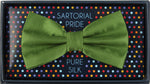 Green - Satin Weave Silk Bow Tie