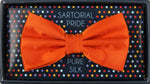 Orange - Satin Weave Silk Bow Tie