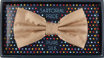 Bronze - Satin Weave Silk Bow Tie
