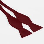Burgundy - Satin Weave Luxury Microfiber T.Y.O Bow Tie