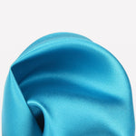 Turquoise - Satin Weave Silk Pocket Square