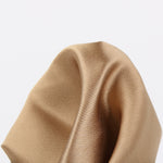 Bronze - Satin Weave Silk Pocket Square
