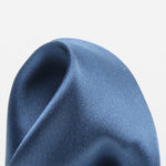 Slate - Satin Weave Silk Pocket Square