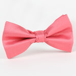 Coral - Twill Weave Single Dimple Silk Bow Tie