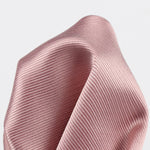 Soft Pink - Twill Weave Silk Pocket Square