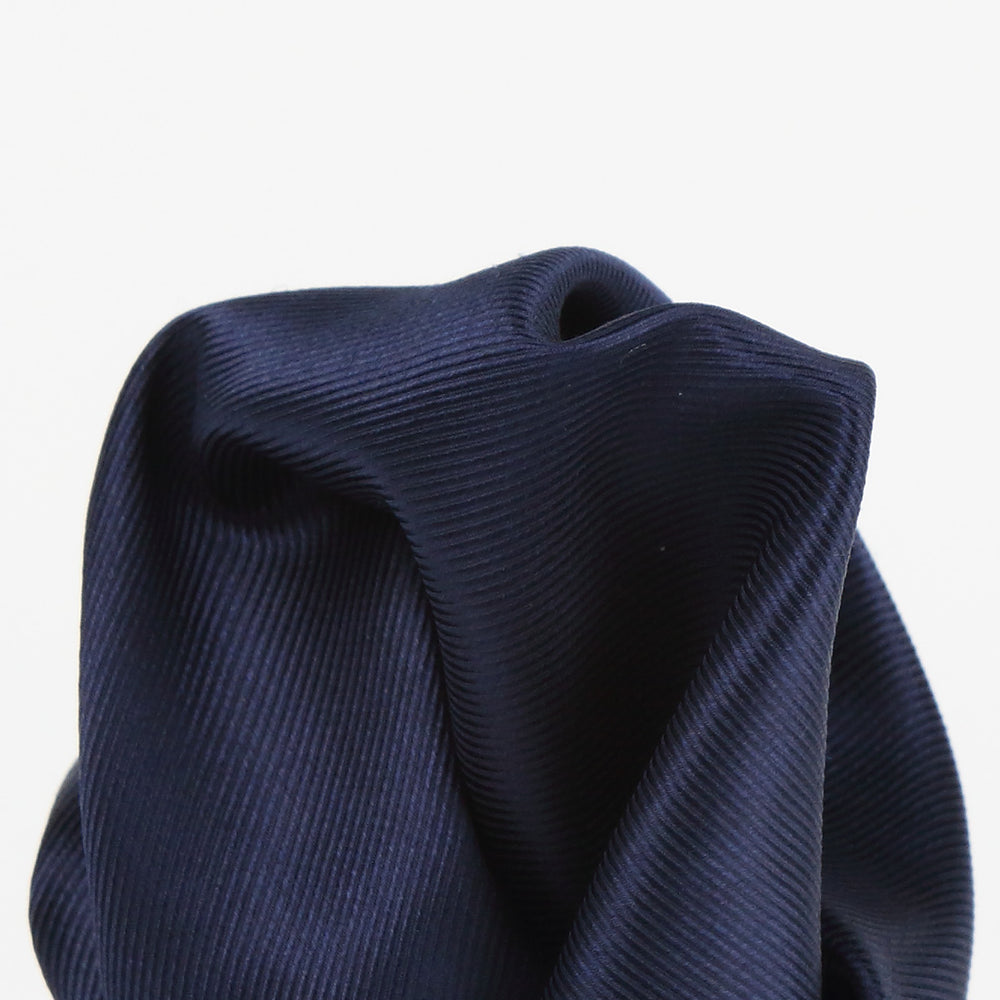 Navy - Twill Weave Silk Pocket Square